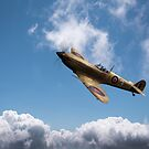Spitfire EN152 above clouds by Gary Eason