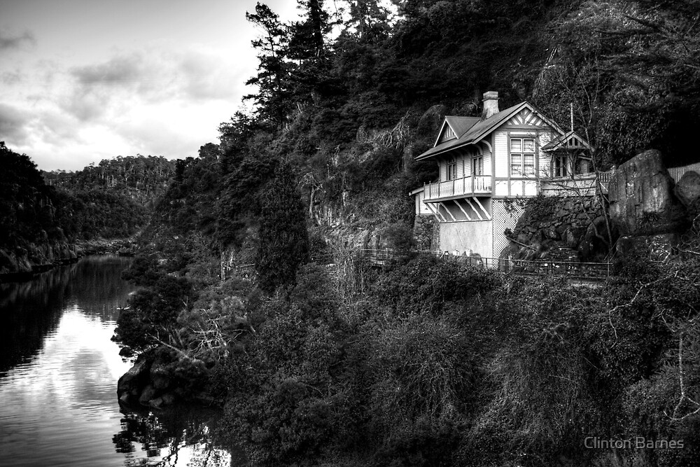 Living on the Edge - Black and White by Clinton Barnes