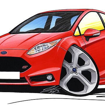 Ford Fiesta (Mk7) ST Red by yeomanscarart