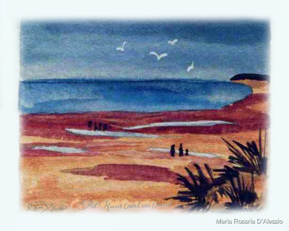 The beach at Old Hunstanton by Rosaria  D'Alessio