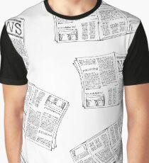 Newspaper seamless pattern Graphic T-Shirt