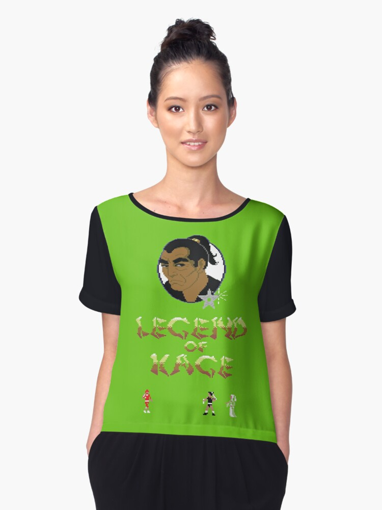 Gaming [C64] - Legend of Kage Women's Chiffon Top Front