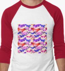 Watercolor butterfly pattern Men's Baseball ¾ T-Shirt
