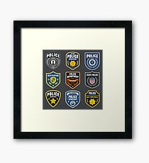 Police Emblems Framed Print