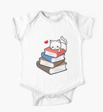 Cat Book Nerd Reader auf Bücher Cute Geek Funny Kurzärmeliger Einteiler