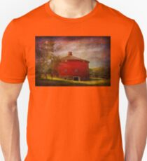 Farm - Barn - Red round barn  Unisex T-Shirt