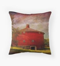 Farm - Barn - Red round barn  Throw Pillow