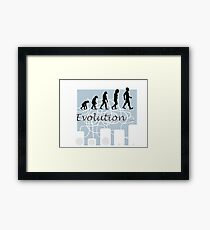 Evolution... Framed Print