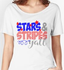 Stars & Stripes Y'all Women's Relaxed Fit T-Shirt