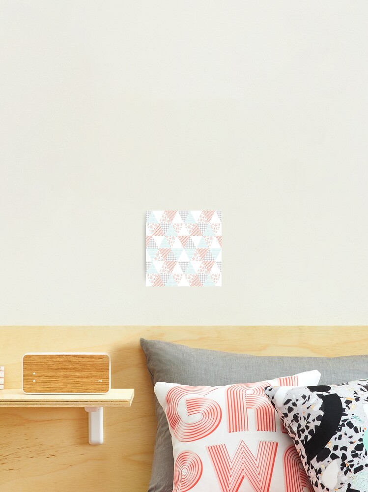 Floral Quilt Cheater Triangle Quilt Design Minimal Home Decor Pattern Photographic Print By Charlottewinter Redbubble