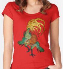 Jinfengopteryx - Golden Phoenix Wing Women's Fitted Scoop T-Shirt