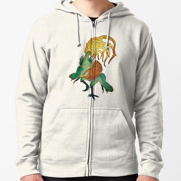 Jinfengopteryx - Golden Phoenix Wing Zipped Hoodie