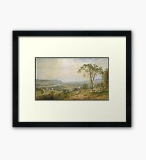 Jasper Francis Cropsey - The Valley Of Wyoming Framed Print