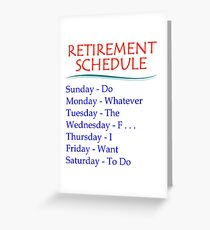 Retirement Gifts Greeting Card