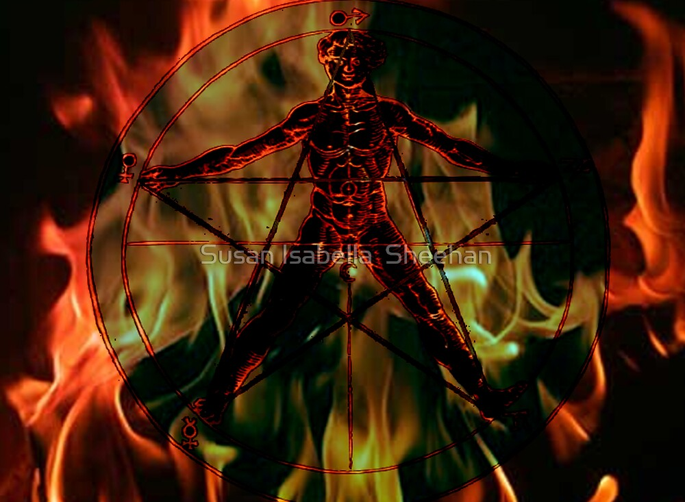 Elementals Of The Pentagram by Susan Isabella  Sheehan