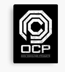 Robocop - OCP Omni Consumer Products White Distressed Variant Canvas Print