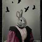 Miss Bunny And Crows by gothicolors