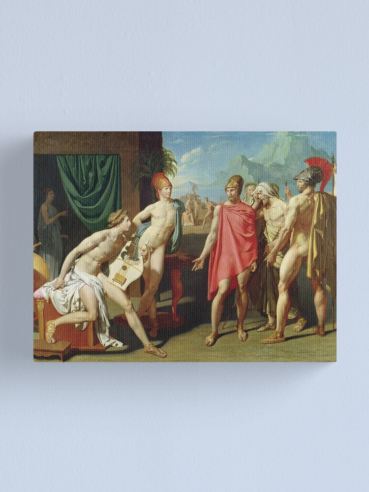 Alternate view of Jean - Auguste - Dominique Ingres - Ambassadors Sent By Agamemnon To Urge Achilles To Fight Canvas Print