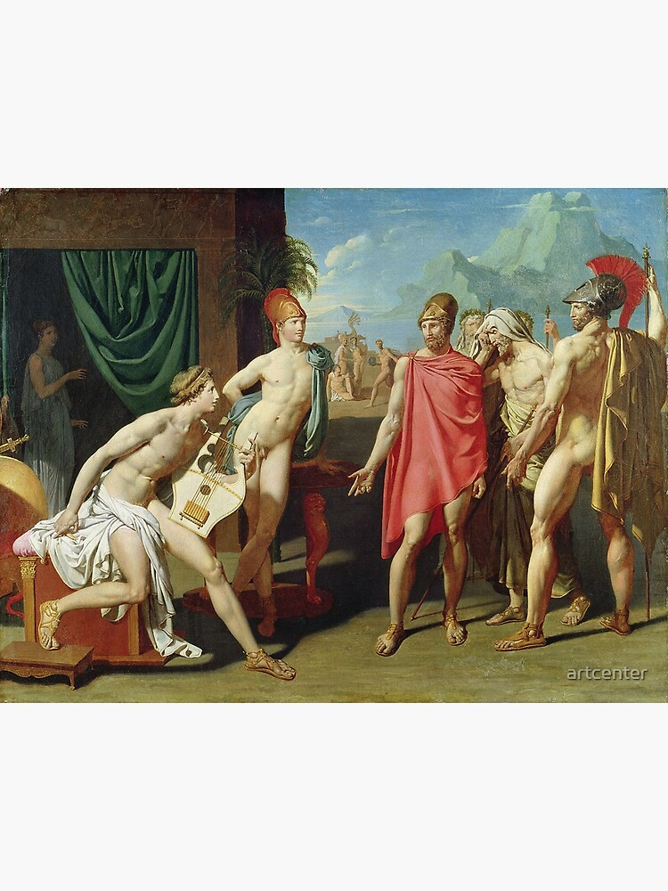 Jean - Auguste - Dominique Ingres - Ambassadors Sent By Agamemnon To Urge Achilles To Fight by artcenter