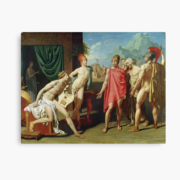 Jean - Auguste - Dominique Ingres - Ambassadors Sent By Agamemnon To Urge Achilles To Fight Canvas Print