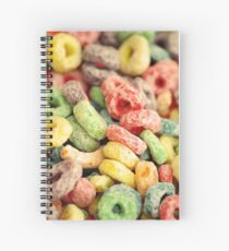 Colourful Fun Abstract Food Art Kitchen Diner Breakfast Cereal Spiral Notebook