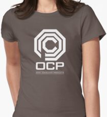Robocop - OCP Omni Consumer Products White Womens Fitted T-Shirt