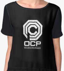 Robocop - OCP Omni Consumer Products White Distressed Variant Women's Chiffon Top