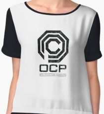 Robocop - OCP Omni Consumer Products Distressed Variant Chiffon Top