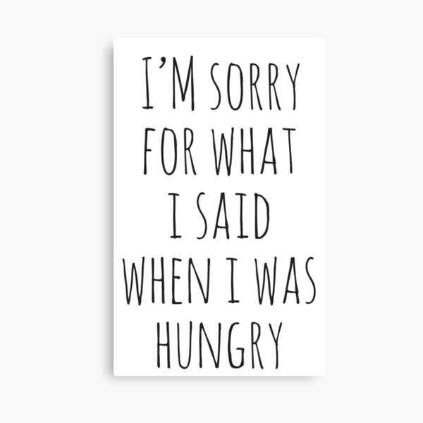 I /'M SORRY lus What I Said When I Was Hungry T Shirt Bear Sarcasm Diet Gym Food