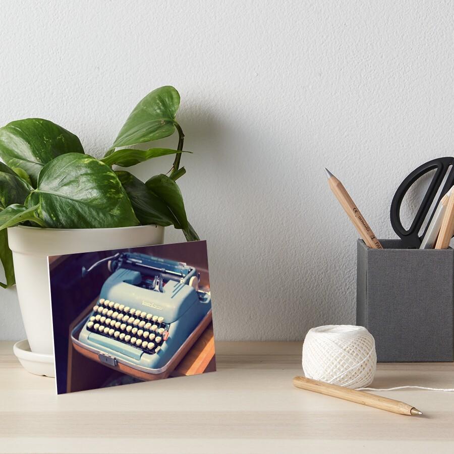 «Máquina de escribir Vintage Baby Blue» de MissMoll