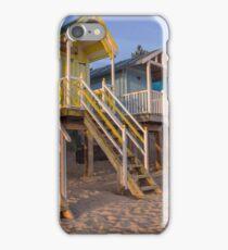 """""""Wells Beach Huts"""" iPhone Case/Skin"""