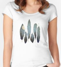 Forest Birds Women's Fitted Scoop T-Shirt