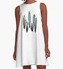 Forest Birds A-Line Dress