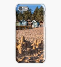 """""""Sandcastles and Beach Huts"""" iPhone Case/Skin"""