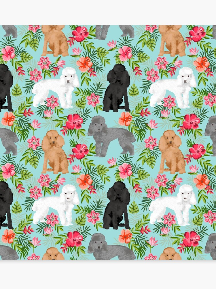 7f09311d273c Toy Poodle dog breed pet portraits hawaiian floral flowers dog pattern custom  dog lover art by