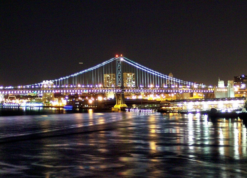 Ben Franklin Bridge(philly side) by Charles Adams