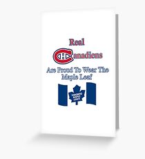 Toronto maple leafs greeting cards redbubble custom toronto maple leafs x montreal canadiens greeting card bookmarktalkfo Images