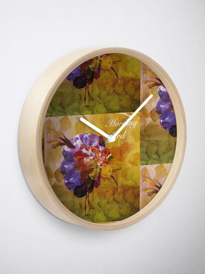 Alternate view of Morning bird Clock