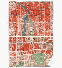 Pekín (Beijing city map classic) Poster