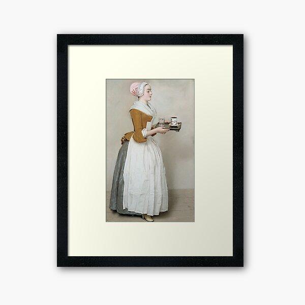 Jean - Etienne Liotard - The Chocolate Girl Framed Art Print