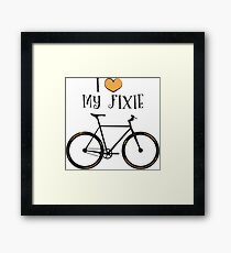 I love my fixie Framed Print