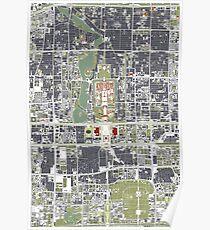 Pekín (Beijing city map engraving) Poster