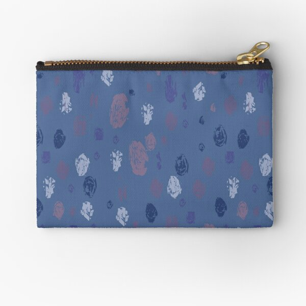 Abstract Raindrops on Blue Zipper Pouch