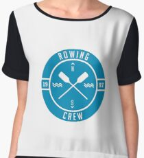 Rowing Crew - Row Boat Paddles - Rower Gift Chiffon Top