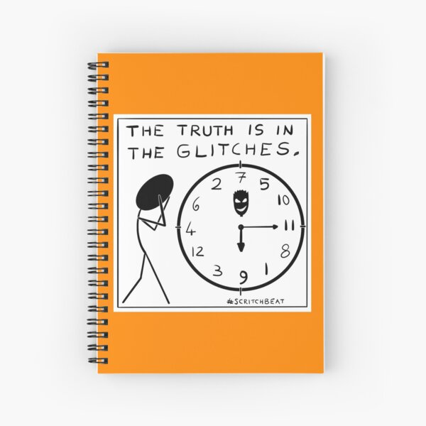 Truth in the glitches Spiral Notebook