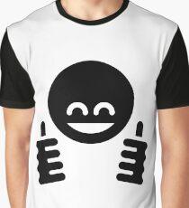 Thumb Up Emoticon Smiley (Black) Graphic T-Shirt