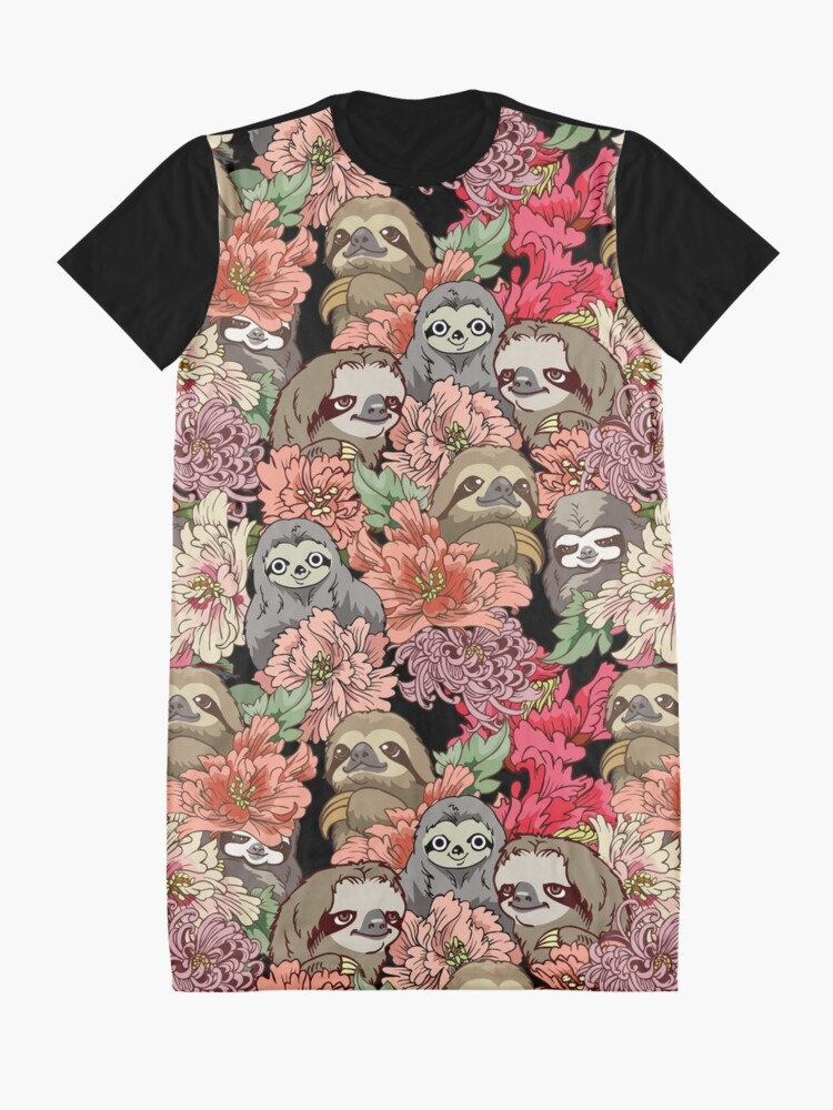 Alternate view of Because Sloths Graphic T-Shirt Dress