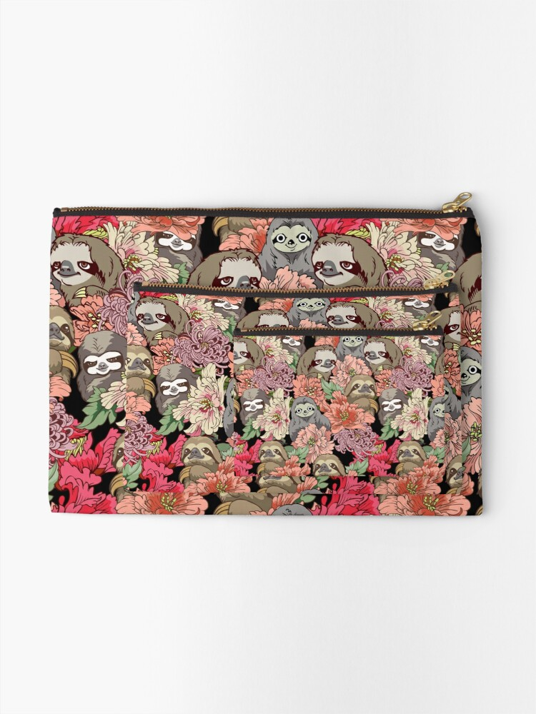 Alternate view of Because Sloths Zipper Pouch