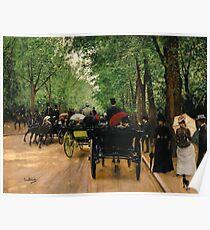 Jean Beraud - Bois De Boulogne Poster