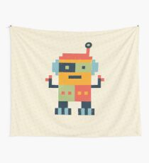 Happy Robot Wall Tapestry